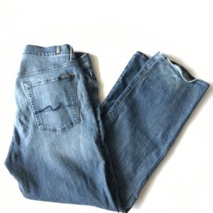 7 For All Mankind Relaxed Jeans Mens 36 Button Fly